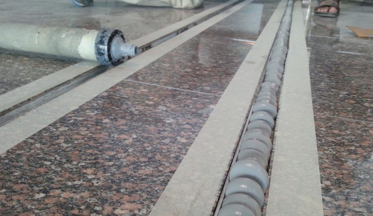 Marble Seismic Flooring Sealant Application